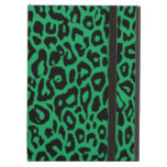 Pieles animales del leopardo del verde esmeralda