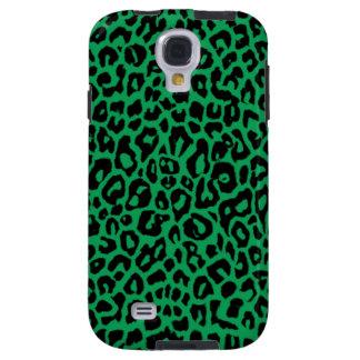 Pieles animales del leopardo del verde esmeralda funda para galaxy s4