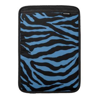 Pieles azules hermosas de la cebra funda para macbook air
