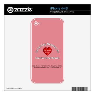 Pieles conmemorativas conocidas adaptables del skin para el iPhone 4S