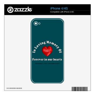 Pieles conmemorativas del teléfono de la fecha calcomanías para iPhone 4