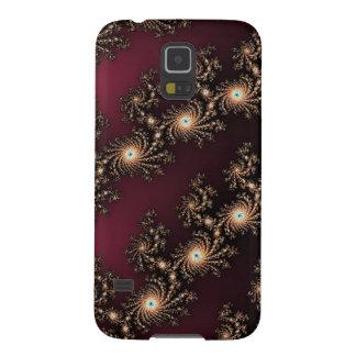 Pieles del fractal del vino y del chocolate carcasa galaxy s5