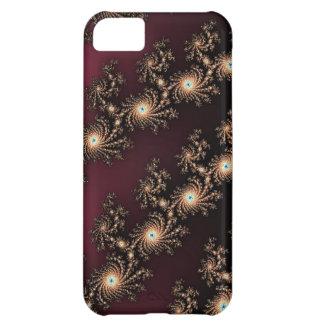 Pieles del fractal del vino y del chocolate carcasa para iPhone 5C