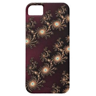 Pieles del fractal del vino y del chocolate funda para iPhone SE/5/5s