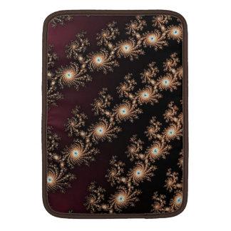 Pieles del fractal del vino y del chocolate fundas MacBook