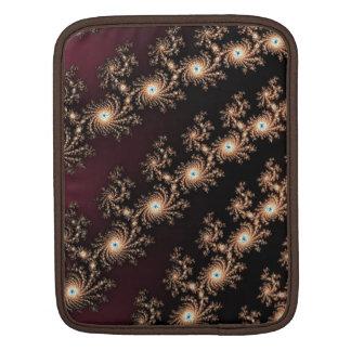 Pieles del fractal del vino y del chocolate fundas para iPads