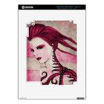 Pieles del iPad del dibujo del chica iPad 3 Skin