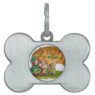 Pieles del Leprechaun del gatito anaranjado del Placa De Mascota