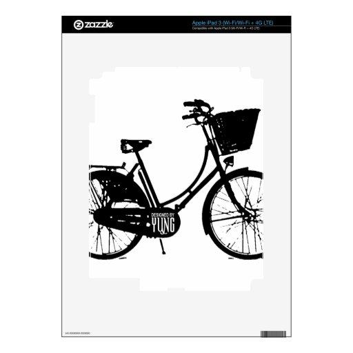 Pieles del personalizado de la bicicleta pegatinas skins para iPad 3