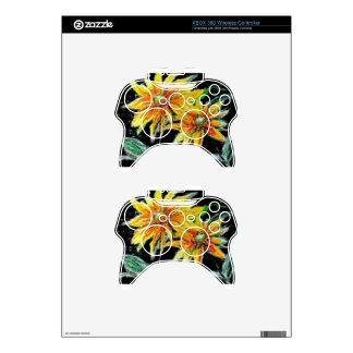 pieles del regulador de Xbox 360 con los girasoles Mando Xbox 360 Skins