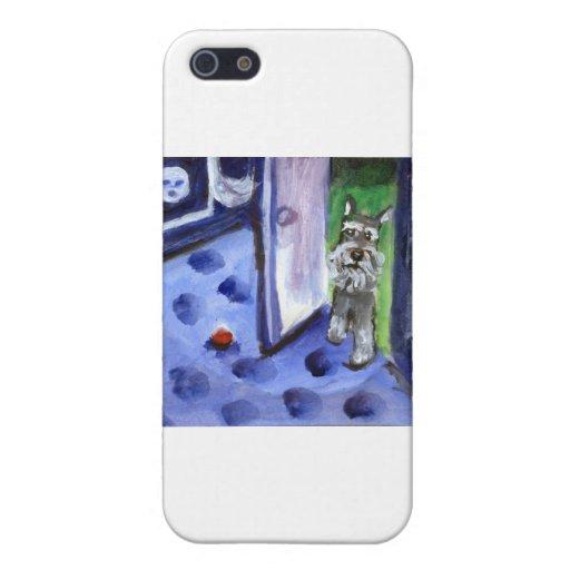 pieles del schnauzer de la luna iPhone 5 carcasas