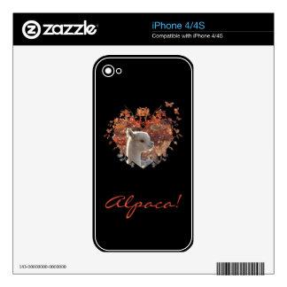 Pieles del teléfono celular de la alpaca skin para el iPhone 4