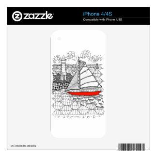 Pieles del teléfono celular calcomanías para el iPhone 4
