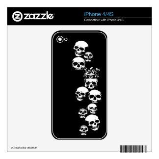Pieles del teléfono de los cráneos iPhone 4 calcomanías