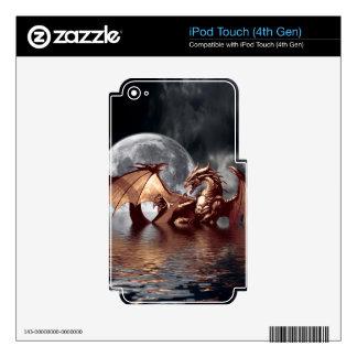 Pieles electrónicas de la fantasía del dragón y de calcomanías para iPod touch 4G