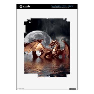 Pieles electrónicas de la fantasía del dragón y de iPad 3 skin