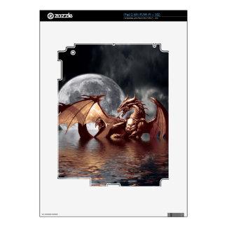 Pieles electrónicas de la fantasía del dragón y de skins para eliPad 2
