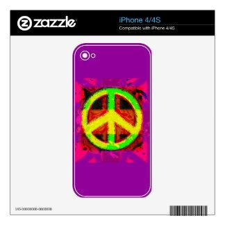 pieles electrónicas del arte retro del signo de la iPhone 4S calcomanías