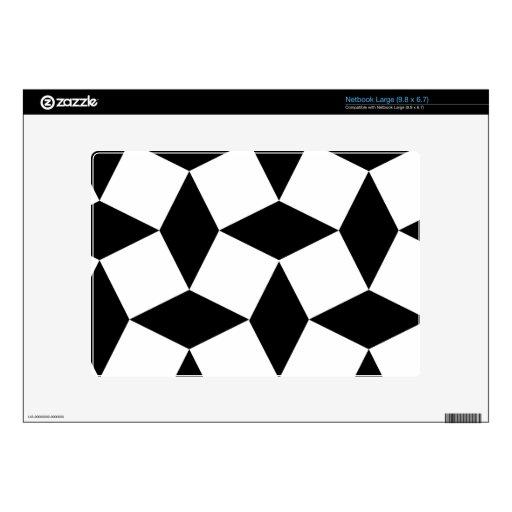 Pieles gráficas negras y blancas del modelo netbook skins