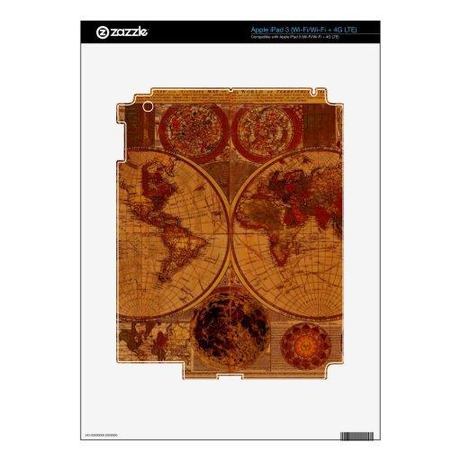 Pieles históricas de la electrónica del mapa de Vi iPad 3 Skin
