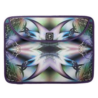 Pieles iridiscentes del diseño del fractal de las funda para macbooks
