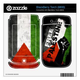 Pieles libres de la antorcha de Palestina - de Bla BlackBerry Calcomanía