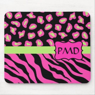 Pieles negras, rosadas y de la verde lima de la mousepads