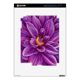 Pieles originales del arte de la flor púrpura de l iPad 3 skin