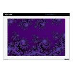 Pieles púrpuras elegantes del cordón del fractal calcomanía para portátil