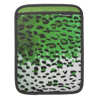 Pieles reales de la reina del leopardo de la verde fundas para iPads