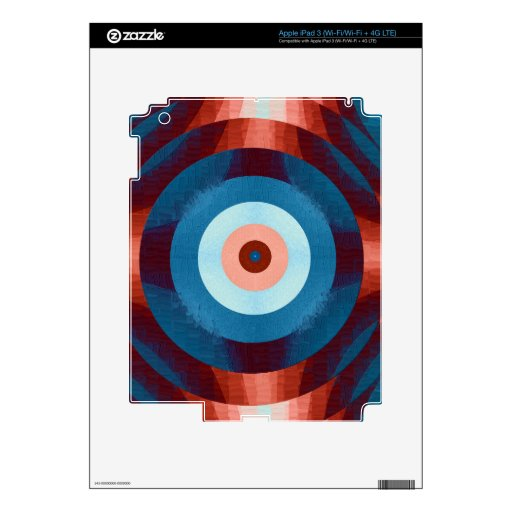 Pieles retras abstractas del vinilo iPad 3 pegatina skin