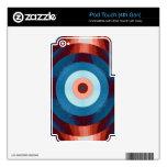 Pieles retras abstractas del vinilo skins para iPod touch 4G