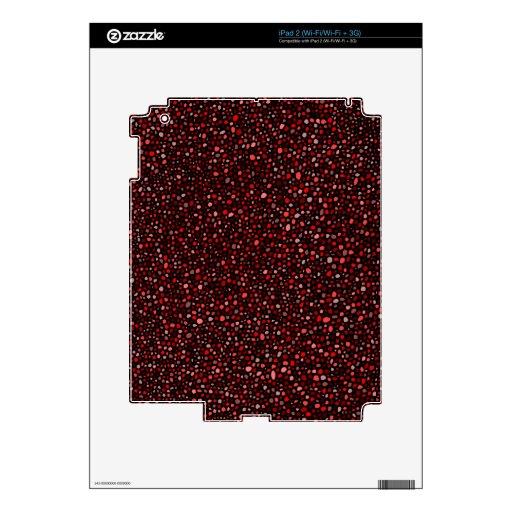 Pieles rojas y negras del diseño del modelo de los iPad 2 skins