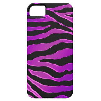 Pieles rosadas y púrpuras eléctricas de la cebra iPhone 5 cárcasas