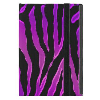 Pieles rosadas y púrpuras eléctricas de la cebra iPad mini cárcasa