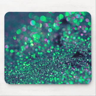 Pieles verdes del brillo que relucir alfombrilla de ratón