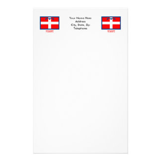 Piemonte flag with name stationery