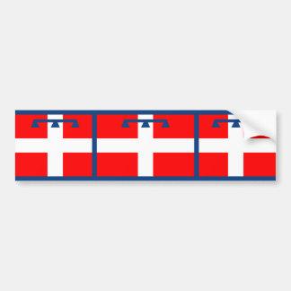 Piemonte, Italy flag Bumper Sticker