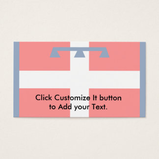 Piemonte, Italy flag Business Card
