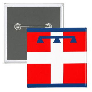 Piemonte, Italy flag Button