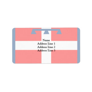 Piemonte, Italy flag Personalized Address Labels