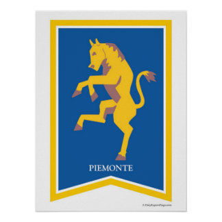 Piemonte Italy Regional Crest Art Print