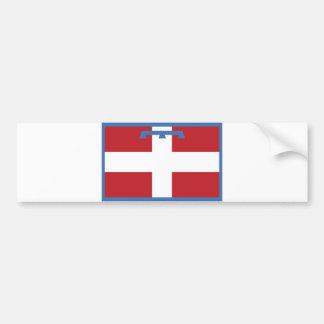 piemonte region flag italy country county bumper sticker