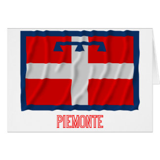 Piemonte waving flag with name card