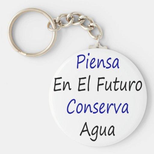 Piensa En El Futuro Conserva Agua Key Chain