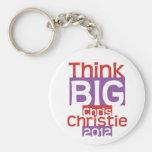 Piense a Chris GRANDE Christie 2012 - diseñador or Llaveros