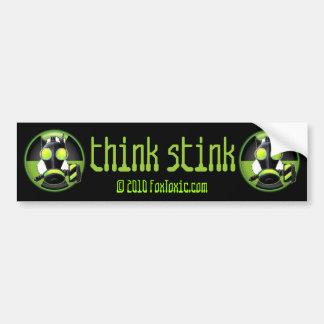 Piense a la pegatina para el parachoques tóxica de etiqueta de parachoque