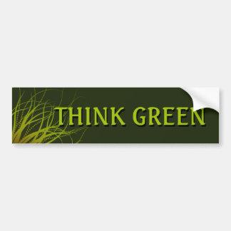 Piense a la pegatina para el parachoques verde pegatina para auto