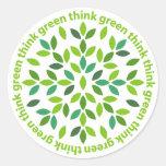 Piense a los pegatinas verdes