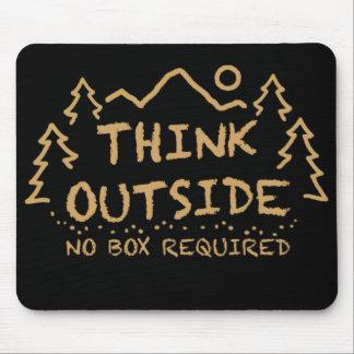 Piense afuera, ninguna caja requerida tapetes de raton